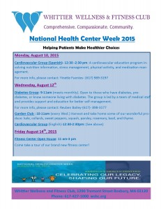 National Health Center week flyer 2015